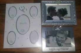 Three wedding photo frames brand new