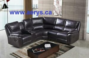 WHOLESALE FURNITURE WAREHOUSE LOWEST PRICE  WWW.AERYS.CA SECTIONAL STARTS FROM $297