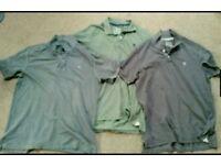 x3 Mens Genuine Fat face Polo shirts Large Bundle
