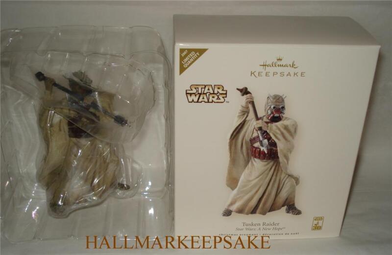2007 HALLMARK KEEPSAKE ORNAMENT STAR WARS A NEW HOPE TUSKEN RAIDER LIMITED NIB