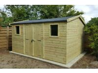 shed - brand new 10x6 £827, Tanalised wood - other styles & sizes available