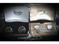 Vintage Stratton Cufflinks & Clips.