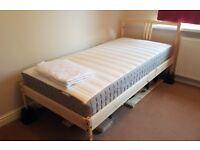 Ikea Single Beds - like new, wood frame & mattress