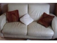 2 seater leather sofa. Good condition.