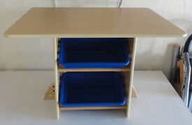 Toddler Play Table with storage trays