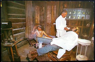 FAIRPLAY CO~1960 BARBER SHOP & BATH ~ SIMPKIN'S GENERAL STORE~ MAN IN BATH TUB (Stores In Denver Co)