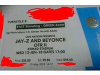 Jay Z + Beyonce OTR II Standing Wed 13th Manchester Ethiad stadium