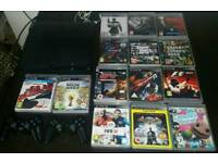 PS3 500GB- 2 CONTROLLERS + 18 GAMES