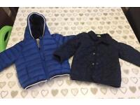 Boys 6-9 months Next coat & 9-12 months Benetton Baby jacket & 4 pairs of shoes