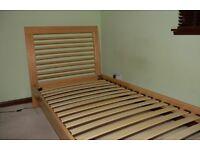 Solid Oak single bed.