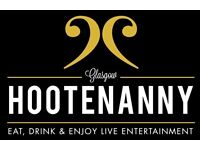 Hootenanny Bar/restaurant require waiting staff