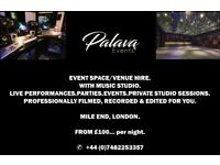 CHEAP £25p/h Event Space for Hire with Professional Video Recording