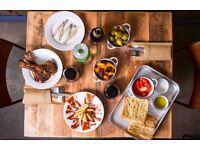 Tapas Bar seeks Chefs Cooks Kitchen Staff to develop