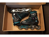 Roller Blades/Inline Skates K2 Alexis Womens Size UK5 & Protection Pads