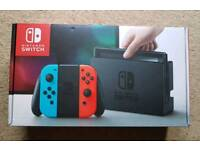 (Boxed and Sealed) - Nintendo Switch - Neon Red/Neon Blue