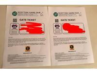 2 x GWCT Scottish Game Fair 2018 Tickets / Fri 29 / Sat 30 June or Sun 1 July / RRP £40 /