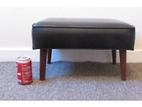 Retro footrest faux leather comfy foot stool FREE DELIVERY WITHIN MY RANGE LE3