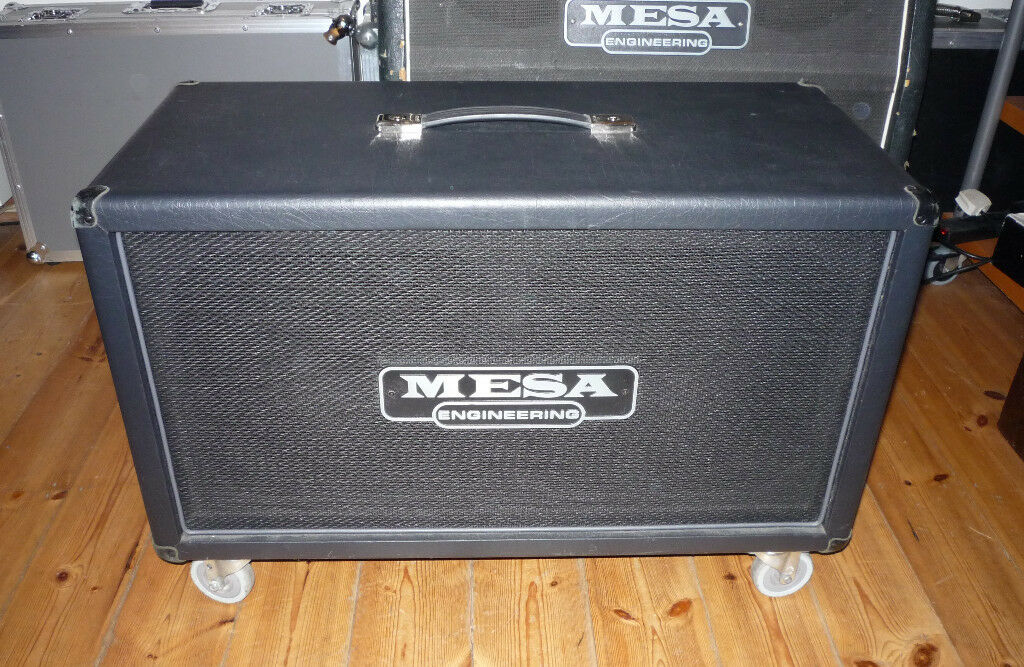 Mesa 2x12 Rectifier Horizontal Cab (Celestion Vintage 30s/Slip Cover/Smooth Casters)
