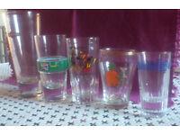 "Retro-vintage ""branded"" glasses x 5 (French/ British)"