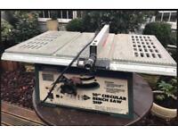 "Draper 10"" 240mm table bench circular saw"