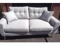 Brand new silver grey 2 seater sofa