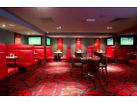 BAR STAFF REQUIRED FOR CENTRAL LONDON SPORTS BAR SW1Y 4TE