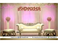 Wedding Stages, Venue Decoration, Mehndi Stages, Chair Covers, Catering, Table Decoration