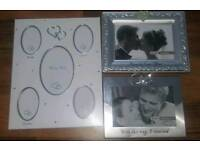Three wedding photo frames