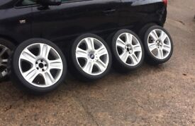 "18"" 5x108 genuine ford sport st rs zetec s ghia mondeo focus transit connect alloys wheels"