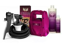 Crazy angel spray tanning machine set and bottle to f express tan solution