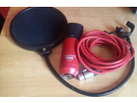Focusrite XLR Microphone - With Pop Shield, Cable, Table Stand and Headphones.