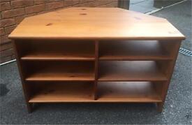 Solid wood corner TV unit cabinet