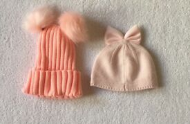 Baby Girl Hats 3 - 6 Months
