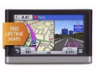 "Garmin Nuvi2567LM 5"" + Mount + Cable/Charger + Hard Case £80"