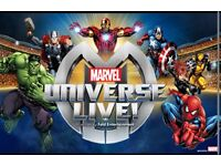 2 x marvel universe live tickets plus travel