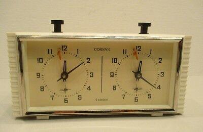 Schachuhr / CORSAR / mechanische Uhr / Schach / Design / 50er 70er Jahre / Uhr