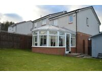 3 bedroom semi-detached house, Kirkcaldy, large conservatory, large drive, bathroom and seperate wc