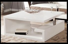 White gloss coffee table, brand new £40 off !!!