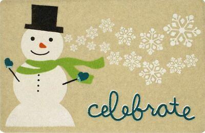 "OUTDOOR DOORMAT W/COIR (18""x27"") CHRISTMAS,SNOWMAN & SNOWFLAKES,CELEBRATE,MOHAWK"