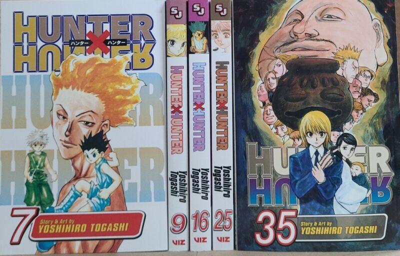 Hunter X Hunter Vol. 7,9,16,25,35 Eng Manga Brand New Viz Media