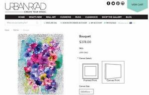 """Beautiful """"Bouquet"""" Canvas print from Urban Road 90cm x 120cm North Sydney North Sydney Area Preview"""