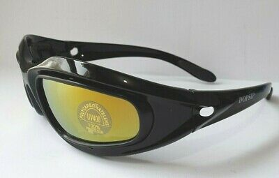 4cbfb6aeffbe Protective Day/ Night Sports Goggles Sunglasses 4 Interchangeable Lenses  Unisex