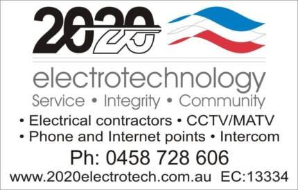 Electrician + CCTV, MATV, Intercom and Comms cabling