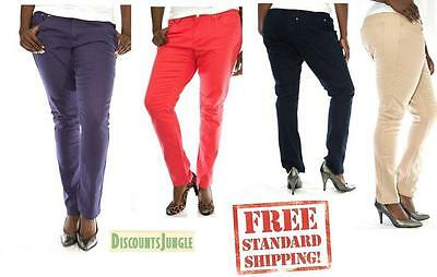 Womens Stretch Twill Pants - JC JEANS Womens Plus Size Cotton Twill Pants Stretch High Waist Skinny PANTS