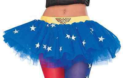 Wonder Woman Tutu Skirt Superhero Fancy Dress Halloween Adult Costume Accessory ()