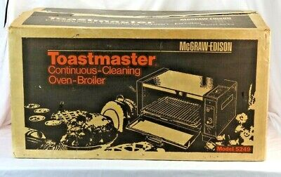 Vintage TOASTMASTER CONTINUOUS OVEN BROILER MODEL 5249 NEW Tabletop USA
