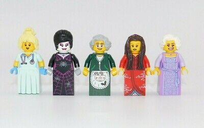 5 X LEGO FEMALES WITH SKIRTS DRESS RANDOM PEOPLE GIRL CITY TOWN