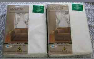2 pairs large New pencil pleat Curtains white Ivory Figtree Wollongong Area Preview