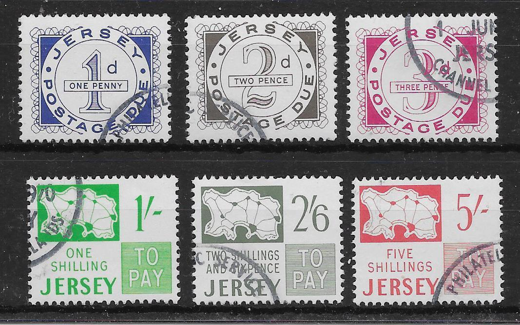 JERSEY SGD1/6 1969 POSTAGE DUES USED