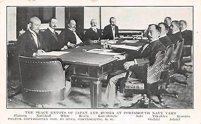 Russo Japanese War 1905 Portsmouth Peace Conference  Envoys Negotiating At Table